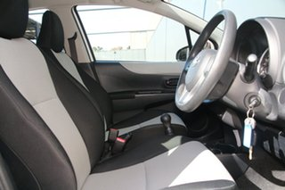 2014 Toyota Yaris NCP130R YR White 5 Speed Manual Hatchback
