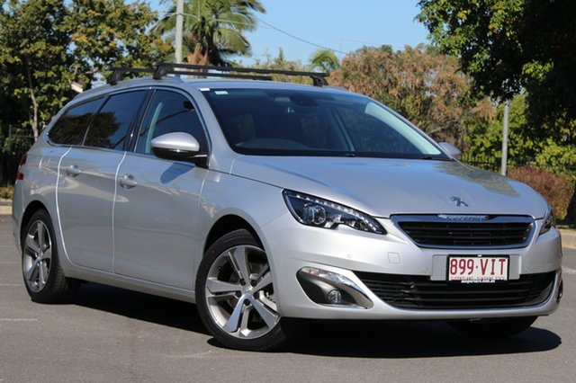 Used Peugeot 308 T9 Allure Touring, 2014 Peugeot 308 T9 Allure Touring Silver 6 Speed Sports Automatic Wagon
