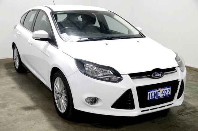 Used Ford Focus LW Sport PwrShift, 2012 Ford Focus LW Sport PwrShift White 6 Speed Sports Automatic Dual Clutch Hatchback