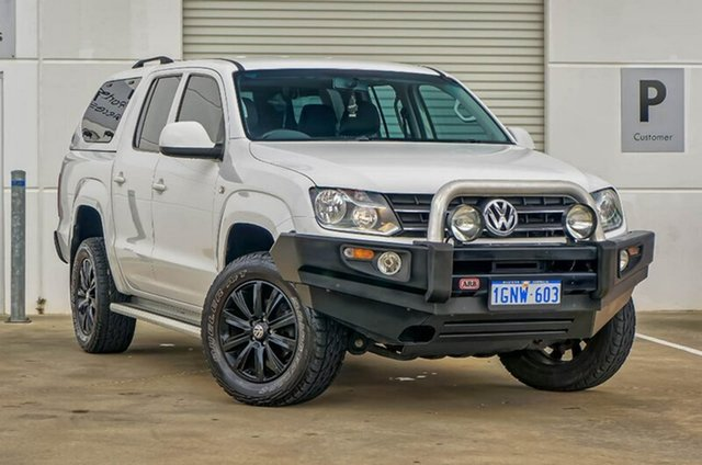 Used Volkswagen Amarok 2H MY14 TDI420 4Motion Perm Trendline, 2013 Volkswagen Amarok 2H MY14 TDI420 4Motion Perm Trendline White 8 Speed Automatic Utility