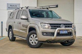 2013 Volkswagen Amarok 2H MY14 TDI420 4Motion Perm Trendline Beige 8 Speed Automatic Utility.