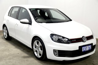 2012 Volkswagen Golf VI MY13 GTI DSG White 6 Speed Sports Automatic Dual Clutch Hatchback.