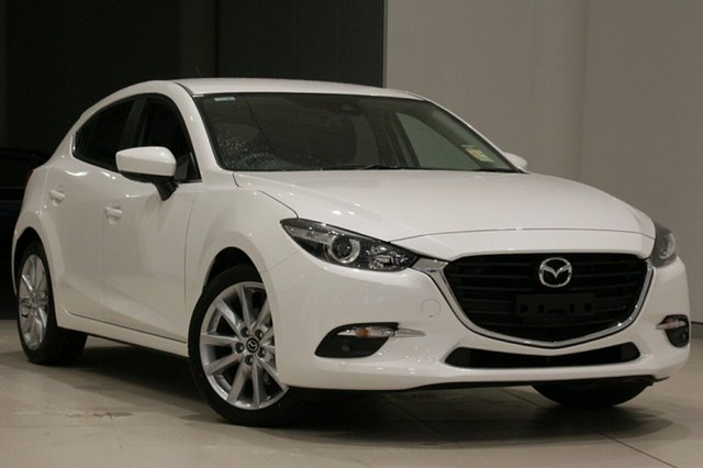 New Mazda 3 BN5438 SP25 SKYACTIV-Drive, 2018 Mazda 3 BN5438 SP25 SKYACTIV-Drive Snowflake White 6 Speed Sports Automatic Hatchback