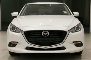 2018 Mazda 3 BN5438 SP25 SKYACTIV-Drive Snowflake White 6 Speed Sports Automatic Hatchback