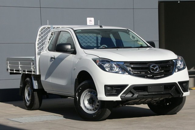 New Mazda BT-50 UR0YG1 XT Freestyle 4x2 Hi-Rider, 2018 Mazda BT-50 UR0YG1 XT Freestyle 4x2 Hi-Rider Cool White 6 Speed Sports Automatic Cab Chassis