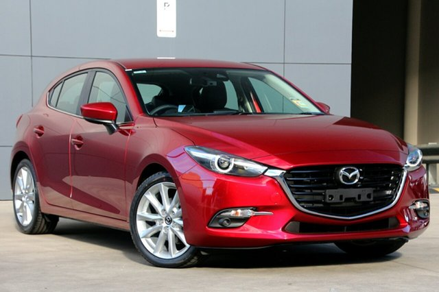 New Mazda 3 BN5436 SP25 SKYACTIV-MT GT, 2018 Mazda 3 BN5436 SP25 SKYACTIV-MT GT Soul Red Crystal 6 Speed Manual Hatchback