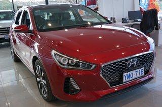2017 Hyundai i30 PD MY18 Premium D-CT Fiery Red 7 Speed Sports Automatic Dual Clutch Hatchback.