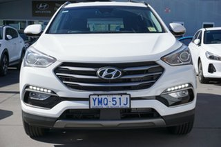 2018 Hyundai Santa Fe DM5 MY18 Active Pure White 6 Speed Sports Automatic Wagon.