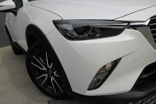 2018 Mazda CX-3 DK4W7A sTouring SKYACTIV-Drive i-ACTIV AWD Snowflake White 6 Speed Sports Automatic.