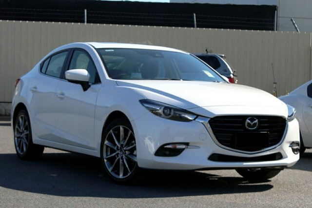 New Mazda 3 BN5238 SP25 SKYACTIV-Drive Astina, 2018 Mazda 3 BN5238 SP25 SKYACTIV-Drive Astina Snowflake White Pearl 6 Speed Sports Automatic Sedan
