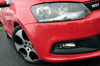 2013 Volkswagen Polo 6R MY14 GTI DSG Flash Red 7 Speed Sports Automatic Dual Clutch Hatchback.