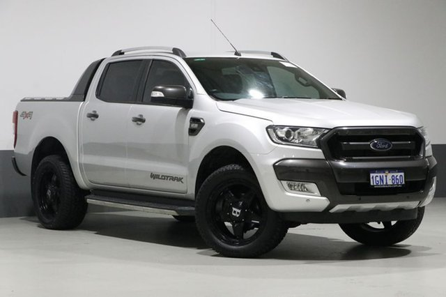 Used Ford Ranger PX Mkii MY17 Wildtrak 3.2 (4x4), 2016 Ford Ranger PX Mkii MY17 Wildtrak 3.2 (4x4) Silver 6 Speed Automatic Dual Cab Pick-up