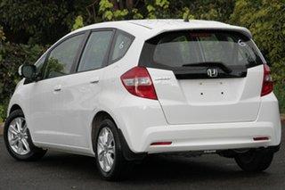 2012 Honda Jazz GE MY12 Vibe Taffeta White 5 Speed Automatic Hatchback.