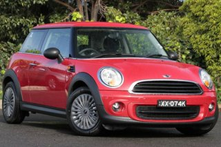 2012 Mini Hatch R56 LCI Ray Steptronic Chilli Red 6 Speed Sports Automatic Hatchback.
