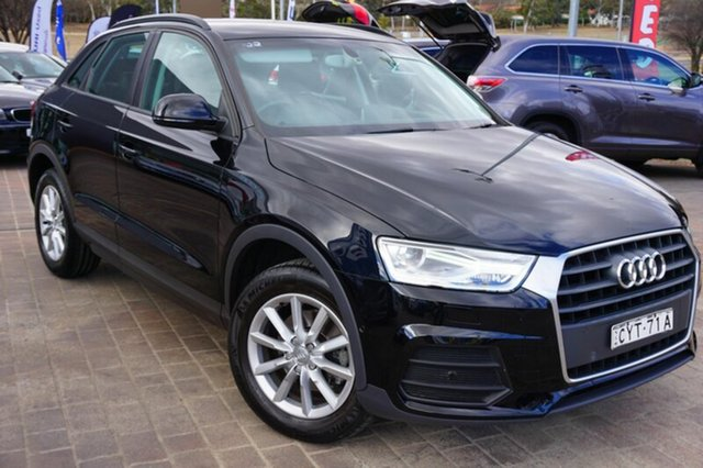 Used Audi Q3 8U MY16 TFSI S tronic, 2015 Audi Q3 8U MY16 TFSI S tronic Black 6 Speed Sports Automatic Dual Clutch Wagon