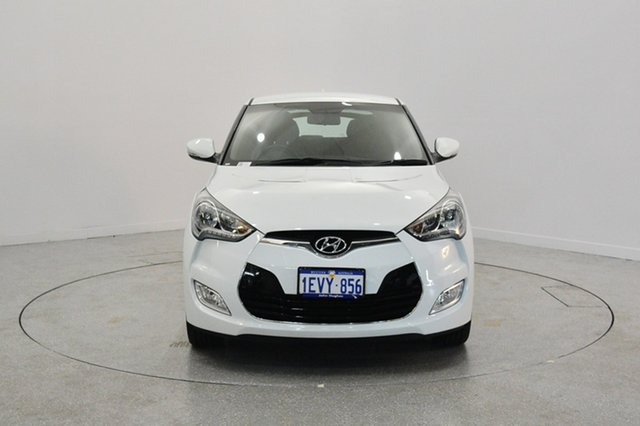 Used Hyundai Veloster FS2 Coupe D-CT, 2014 Hyundai Veloster FS2 Coupe D-CT Crystal White 6 Speed Sports Automatic Dual Clutch Hatchback