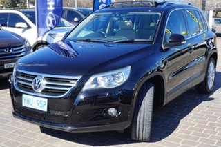 2009 Volkswagen Tiguan 5N MY09 147TSI 4MOTION Deep Black 6 Speed Sports Automatic Wagon.