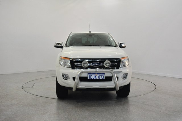Used Ford Ranger PX XLT Double Cab, 2013 Ford Ranger PX XLT Double Cab White 6 Speed Manual Utility