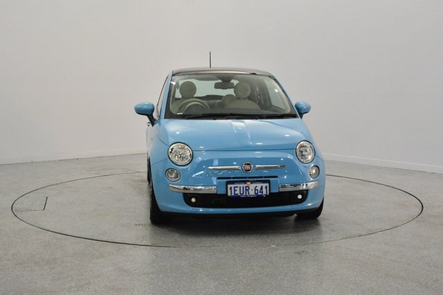 Used Fiat 500 Series 3 Lounge Dualogic, 2015 Fiat 500 Series 3 Lounge Dualogic Blue 5 Speed Sports Automatic Single Clutch Hatchback