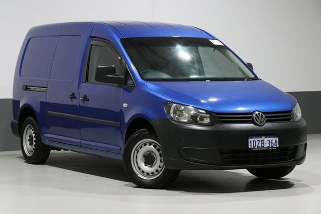 Used Volkswagen Caddy 2K MY12 Maxi TDI250, 2012 Volkswagen Caddy 2K MY12 Maxi TDI250 Blue 7 Speed Auto Direct Shift Van