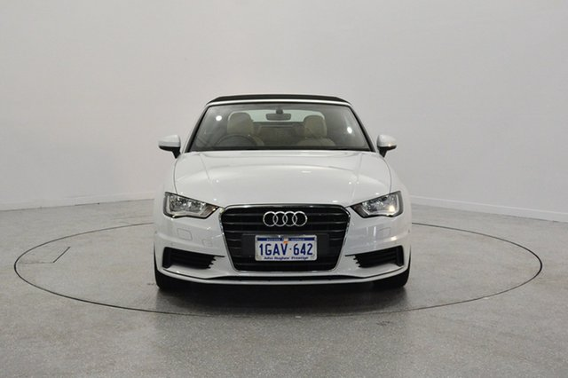 Used Audi A3 8V MY16 Attraction S tronic, 2015 Audi A3 8V MY16 Attraction S tronic White 7 Speed Sports Automatic Dual Clutch Cabriolet