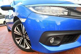 2017 Honda Civic 10th Gen MY17 VTi-LX Brilliant Sporty Blue 1 Speed Constant Variable Sedan.