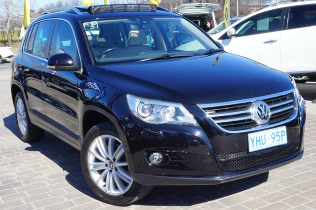 Used Volkswagen Tiguan 5N MY09 147TSI 4MOTION, 2009 Volkswagen Tiguan 5N MY09 147TSI 4MOTION Deep Black 6 Speed Sports Automatic Wagon