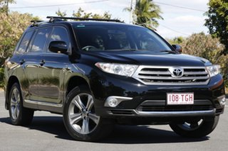 2013 Toyota Kluger GSU45R MY12 KX-S AWD Black 5 Speed Sports Automatic Wagon.
