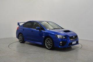 2014 Subaru WRX V1 MY15 STI AWD Premium Blue 6 Speed Manual Sedan.