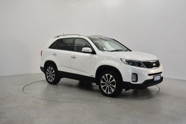 Used Kia Sorento XM MY14 Platinum 4WD, 2013 Kia Sorento XM MY14 Platinum 4WD White 6 Speed Sports Automatic Wagon