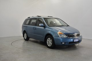 2011 Kia Grand Carnival VQ MY11 SI Crystal Blue 6 Speed Sports Automatic Wagon.