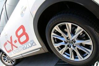 2018 Mazda CX-8 KG4W2A Asaki SKYACTIV-Drive i-ACTIV AWD Snowflake White 6 Speed Sports Automatic