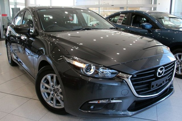 New Mazda 3 BN5476 Maxx SKYACTIV-MT Sport, 2018 Mazda 3 BN5476 Maxx SKYACTIV-MT Sport Machine Grey 6 Speed Manual Hatchback