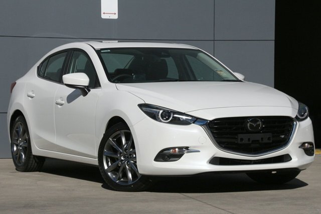New Mazda 3 BN5238 SP25 SKYACTIV-Drive Astina, 2018 Mazda 3 BN5238 SP25 SKYACTIV-Drive Astina Snowflake White 6 Speed Sports Automatic Sedan