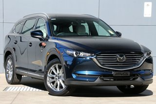 2018 Mazda CX-8 KG4W2A Asaki SKYACTIV-Drive i-ACTIV AWD Deep Crystal Blue 6 Speed Sports Automatic.