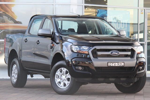 Used Ford Ranger PX MkII MY18 XLS Double Cab, 2017 Ford Ranger PX MkII MY18 XLS Double Cab Shadow Black 6 Speed Sports Automatic Utility