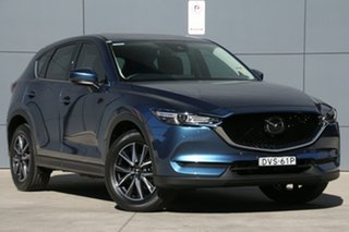 2018 Mazda CX-5 KF4WLA Akera SKYACTIV-Drive i-ACTIV AWD Eternal Blue 6 Speed Sports Automatic Wagon