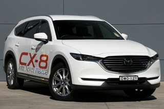 2018 Mazda CX-8 KG4W2A Asaki SKYACTIV-Drive i-ACTIV AWD Snowflake White 6 Speed Sports Automatic.
