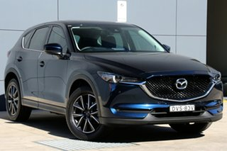 2018 Mazda CX-5 KF4WLA GT SKYACTIV-Drive i-ACTIV AWD Deep Crystal Blue 6 Speed Sports Automatic.
