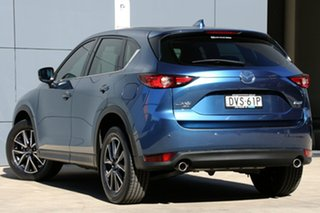 2018 Mazda CX-5 KF4WLA Akera SKYACTIV-Drive i-ACTIV AWD Eternal Blue 6 Speed Sports Automatic Wagon.