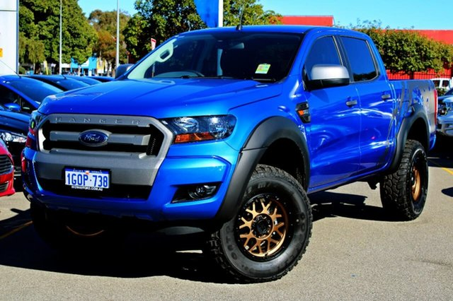 Used Ford Ranger PX MkII MY18 XLS Double Cab, 2017 Ford Ranger PX MkII MY18 XLS Double Cab Blue 6 Speed Sports Automatic Utility