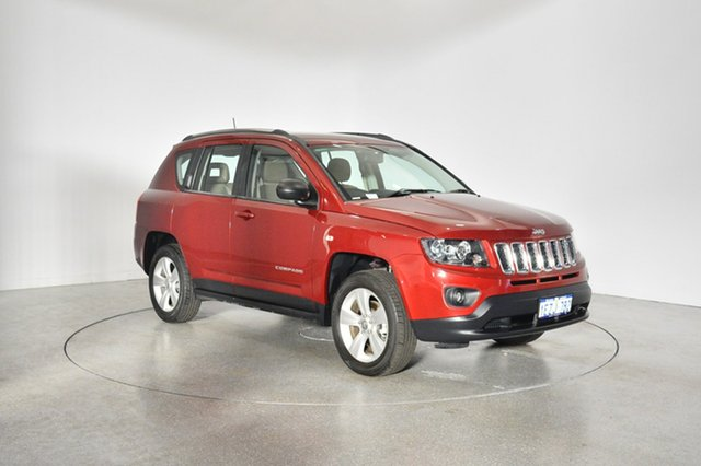 Used Jeep Compass MK MY16 Sport CVT Auto Stick, 2016 Jeep Compass MK MY16 Sport CVT Auto Stick Deep Cherry Red Pearl 6 Speed Constant Variable Wagon