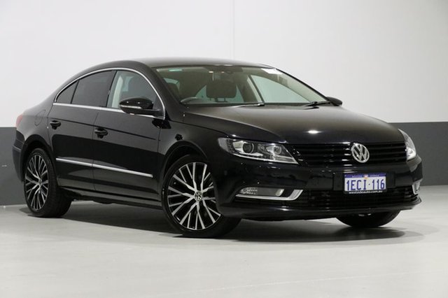 Used Volkswagen CC 3C MY13 125 TDI, 2012 Volkswagen CC 3C MY13 125 TDI Black 6 Speed Direct Shift Coupe
