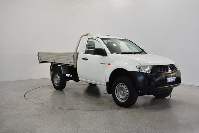 Used Mitsubishi Triton ML MY09 GLX 4x2, 2009 Mitsubishi Triton ML MY09 GLX 4x2 White 5 Speed Manual Cab Chassis