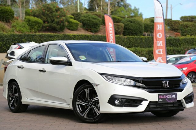 New Honda Civic 10th Gen MY18 RS, 2018 Honda Civic 10th Gen MY18 RS White Orchid 1 Speed Constant Variable Sedan