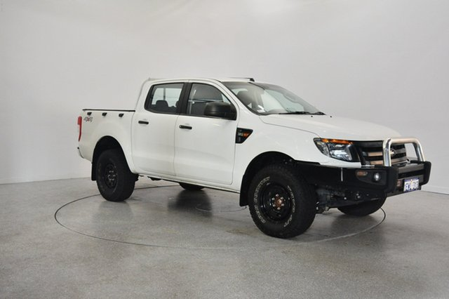 Used Ford Ranger PX XL Double Cab, 2015 Ford Ranger PX XL Double Cab Cool White 6 Speed Manual Utility