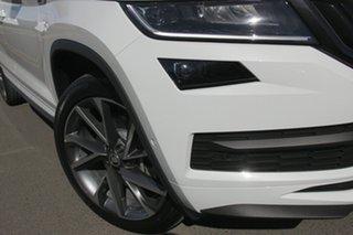 2021 Skoda Kodiaq NS MY21 132TSI DSG Sportline Moon White 7 Speed Sports Automatic Dual Clutch Wagon.