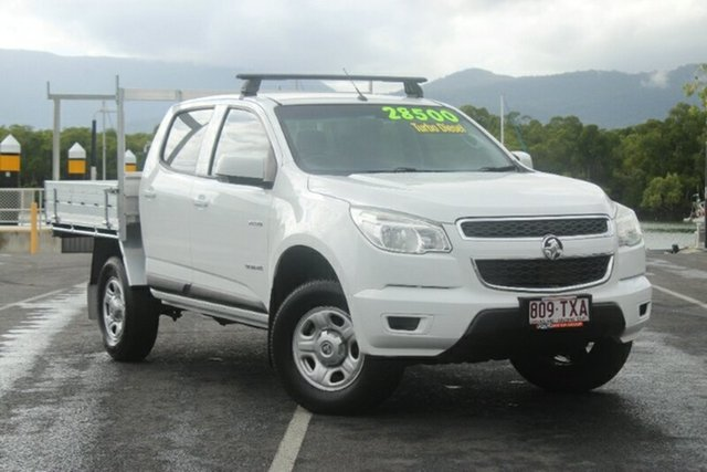 Used Holden Colorado RG MY15 LS Crew Cab 4x2, 2014 Holden Colorado RG MY15 LS Crew Cab 4x2 White 6 Speed Sports Automatic Cab Chassis