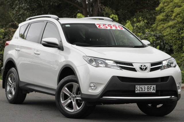 Used Toyota RAV4 ZSA42R MY14 GXL 2WD, 2015 Toyota RAV4 ZSA42R MY14 GXL 2WD Pearl White 7 Speed Constant Variable Wagon