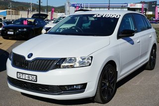2018 Skoda Rapid NH MY18.5 Spaceback DSG White 7 Speed Sports Automatic Dual Clutch Hatchback.